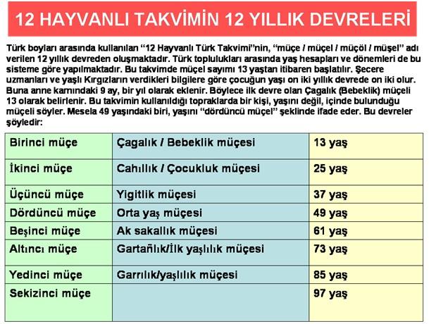 12 Hayvanlı Türk Takvimine göre karakter özellikleri (2/2)