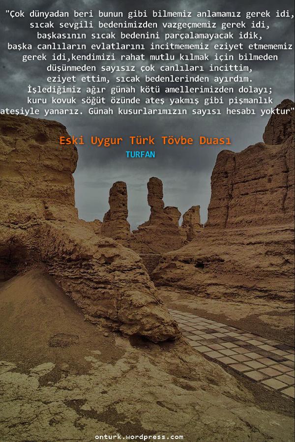 Tövbe Duası - Turfan Yazmaları
