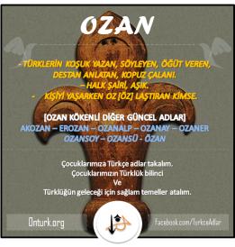 OZAN TÜRKÇE ADLAR