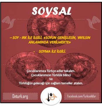 soysal türkçe adlar